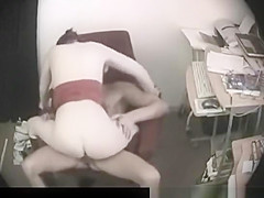Busty Brunette secret office sex