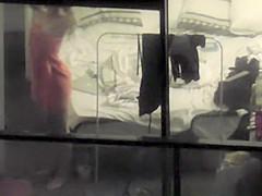 Girls spied through the hotel window