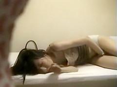 Asian girl peeped while masturbating