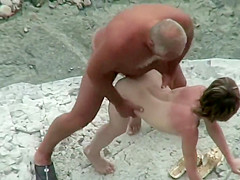 Sex with stranger on beach