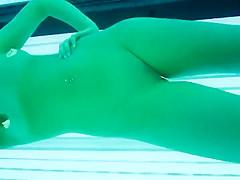 Voyeur got close to her during tanning