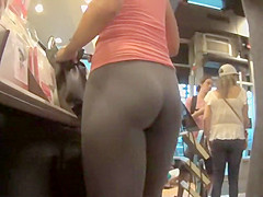 Hottie stopped by to get some coffee