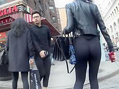 Ultra tight brown girl's hot ass