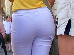 I'm charmed by her nice ass and thong