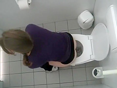 Voyeur woman on the toilet your