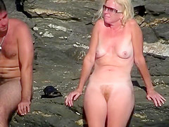 Mature nudist lady
