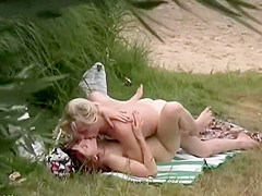 Chubby woman nude through window