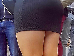 Absolutely assured candid mini skirts and pantyhose