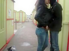 Exhibitionist Couple Quick Outdoor Blowjob
