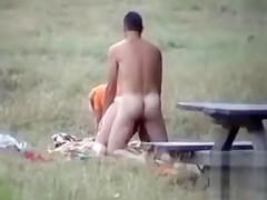Amateurs enjoy having some naughty sex in public