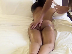 Desi wife receives a relaxing full-body massage in the hotel