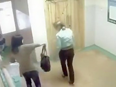 Russian amateur girls pee in public and soak the floor