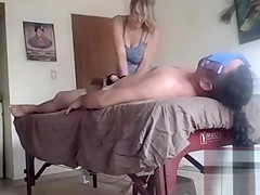 Massage therapy makes his penis grow rock hard