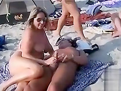 Juicy scenes of sexual caressing at the beach