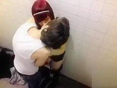College students filmed fooling around in the WC