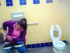 Voyeur Women bathroom