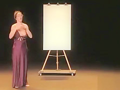 Comedian in a nightgown lets her nipple slip
