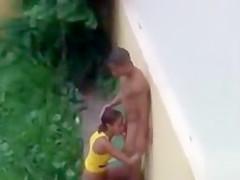 Outdoor voyeur sex with a Brazilian couple