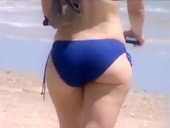 Big ass honeys walking down the beach