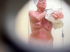 Grandmother's saggy tits filmed in secret