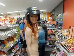 Girl shopping naked