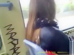 Cumming on a girl on the bus