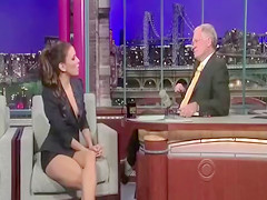Eva Longoria shows amazing cleavage on a talk show