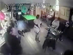 Chubby mature stripper puts on a show at the bar