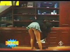 Great up skirt thong shot of an office girl's sassy ass