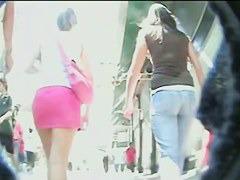Voyeur upskirt video of an enthralling behind