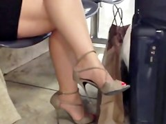 Candid Hot Crossed Legs nineteen