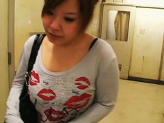 Magnificent Asian tits in a downblouse spy cam video