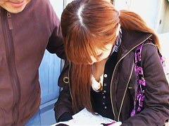 Downblouse amateur japanese redhead vid