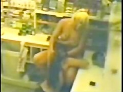 Hot lesbians on security cam