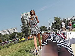 Oops upskirts scene with perfect young beauty