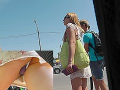 Dirty upskirt in public caught by bolt cameraman