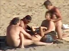 Group sex at nudist beach