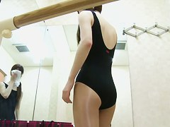Spy cam in dressing room admires small tits and teen nub
