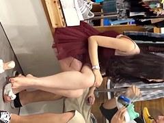 Upskirt - Peeping at a shoe store