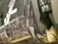 Hidden cam masturbation Japanese video booth