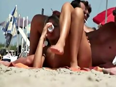 Hot Milf on Nudist Beach By TROC