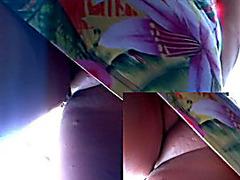 Pimple a-hole upskirt of a beauty