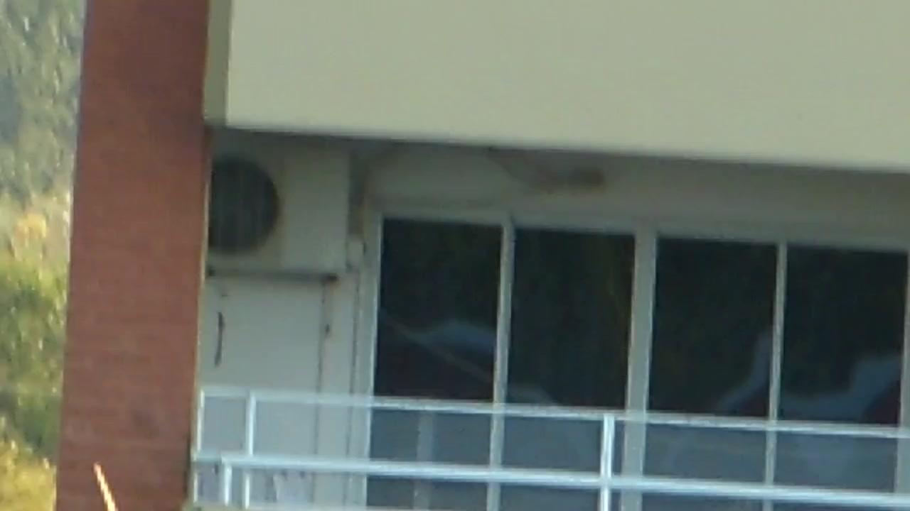 voyeur girl nude in balcony  argentina . far away ( 200 m)