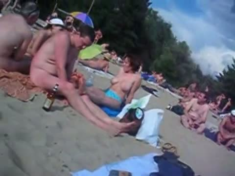 Beach voyeur hidden cam with hot nudist girls