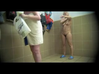 Hidden cam in the locker room catching these women naked