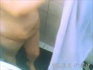 Here is my mature saggy wife with big titties on home hidden cam
