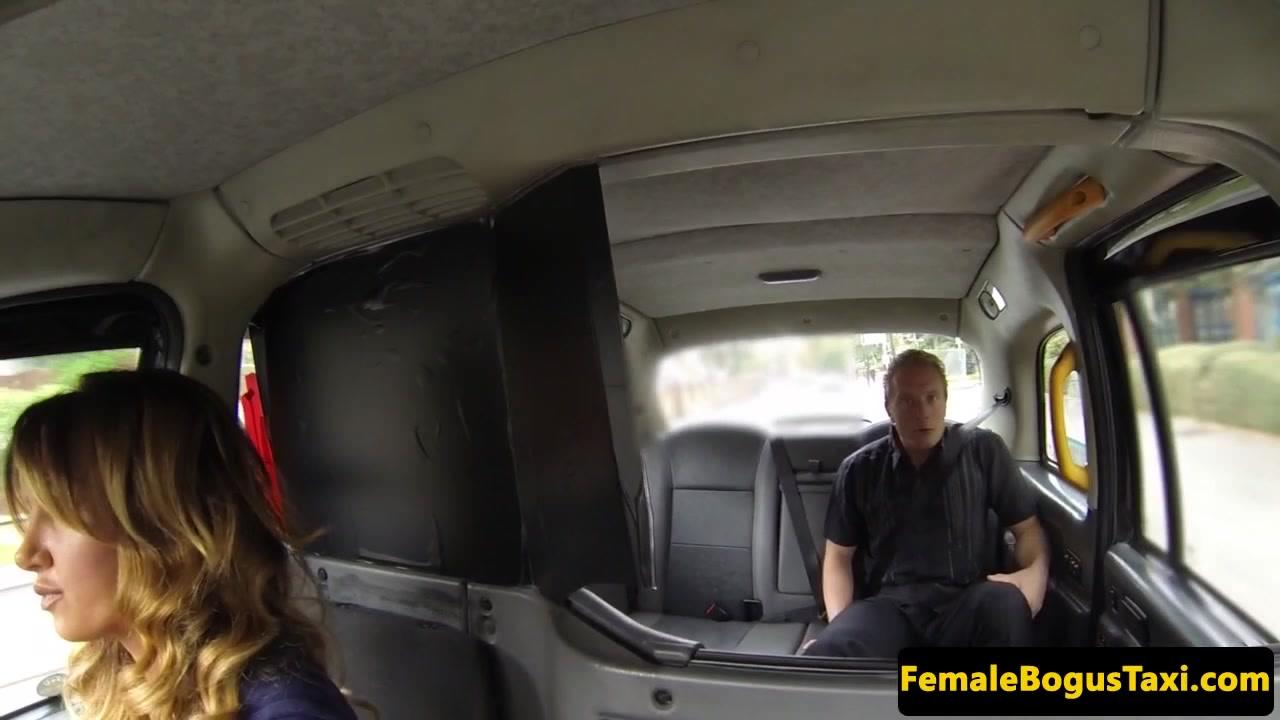 Doggystyled female cabbie sprayed with spunk