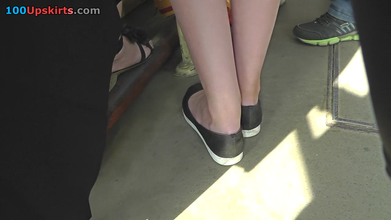 Upskirting video shows an amazing skinny ass of a bitch