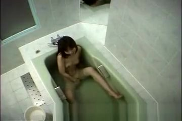 Japanese girl in bathtub
