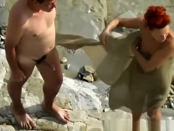 Redhead nudist fucked by her man